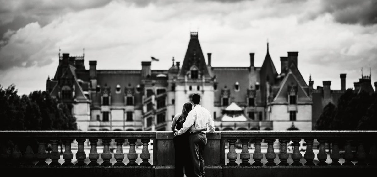 Biltmore Estate Engagement Photos by Asheville Wedding Photographer Dave Shay