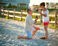Ocean City Beach Proposal by Raleigh Wedding Photographer Dave Shay in New Jersey