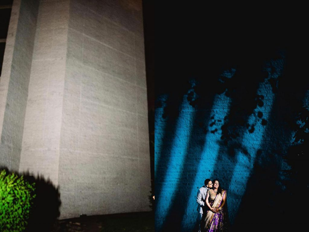 creative indian wedding nighttime photo
