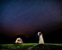 Fine art starry wedding picture full moon resort ny