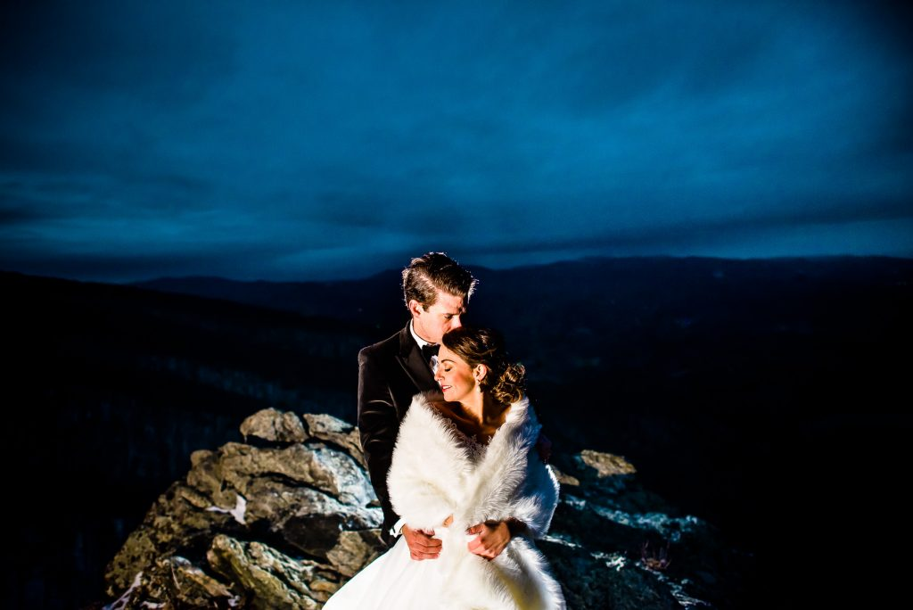 outdoor winter wedding twickenham house west jefferson nc