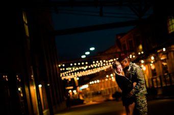 nighttime durham engagement