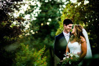 candid wedding couple