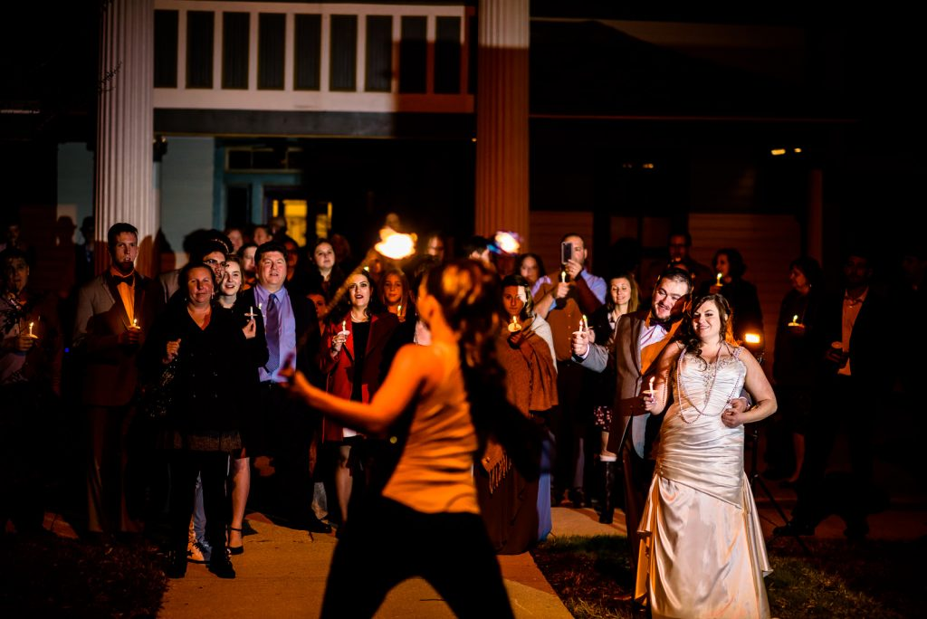 Fire Poi Wedding Exit