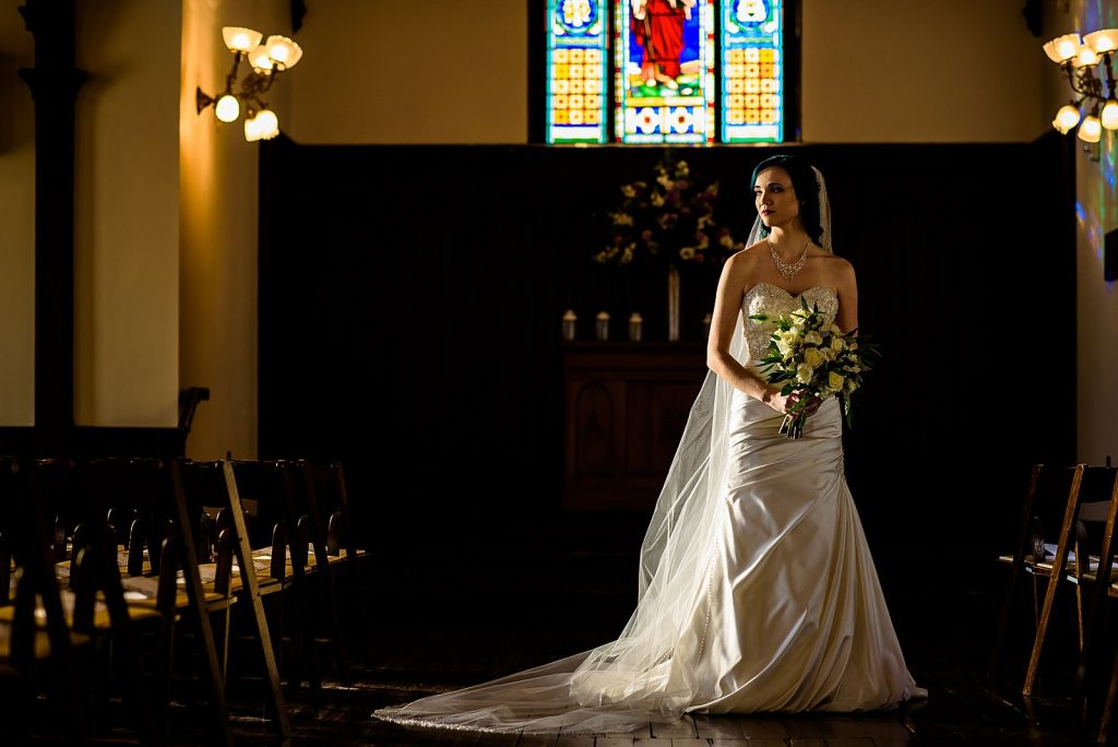 Bride getting ready at all saints chapel