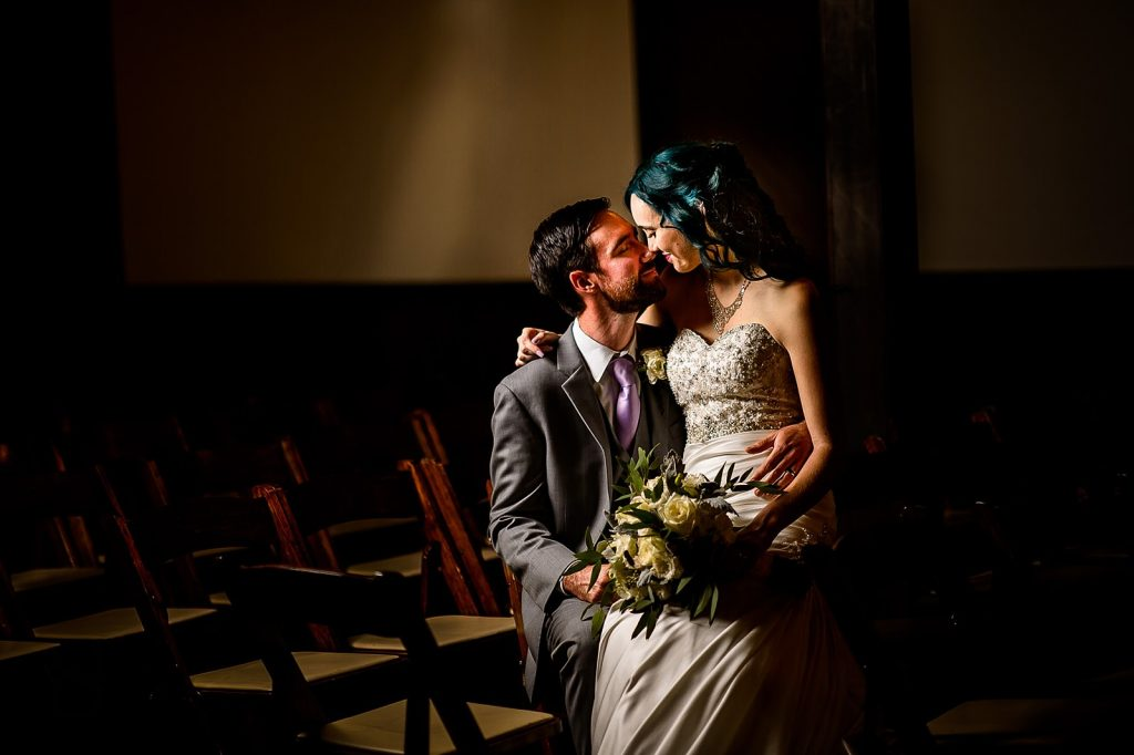 all saints chapel night wedding portraits