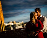 boylan st bridge sunset engagement session