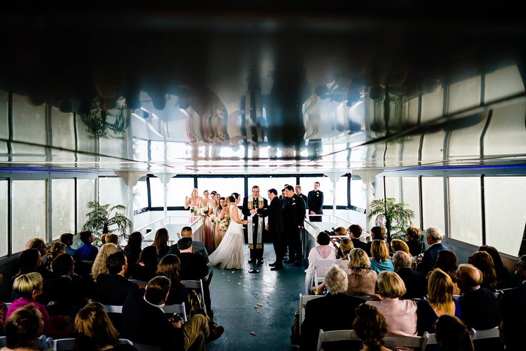 wedding ceremony on crystal coast lady