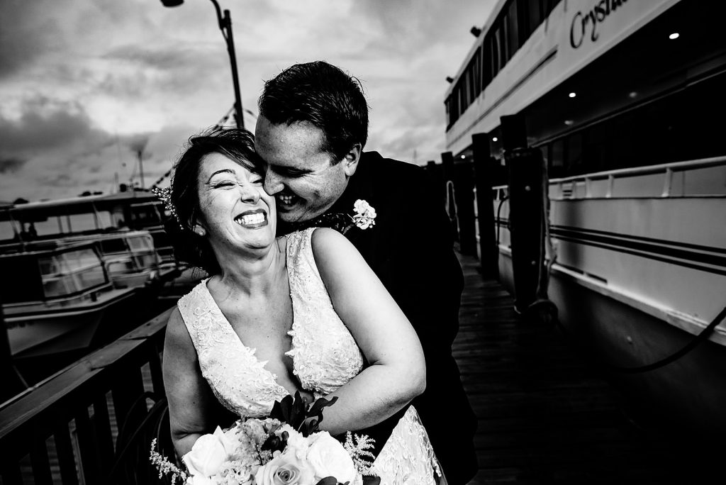 crystal coast lady wedding portrait on the docks