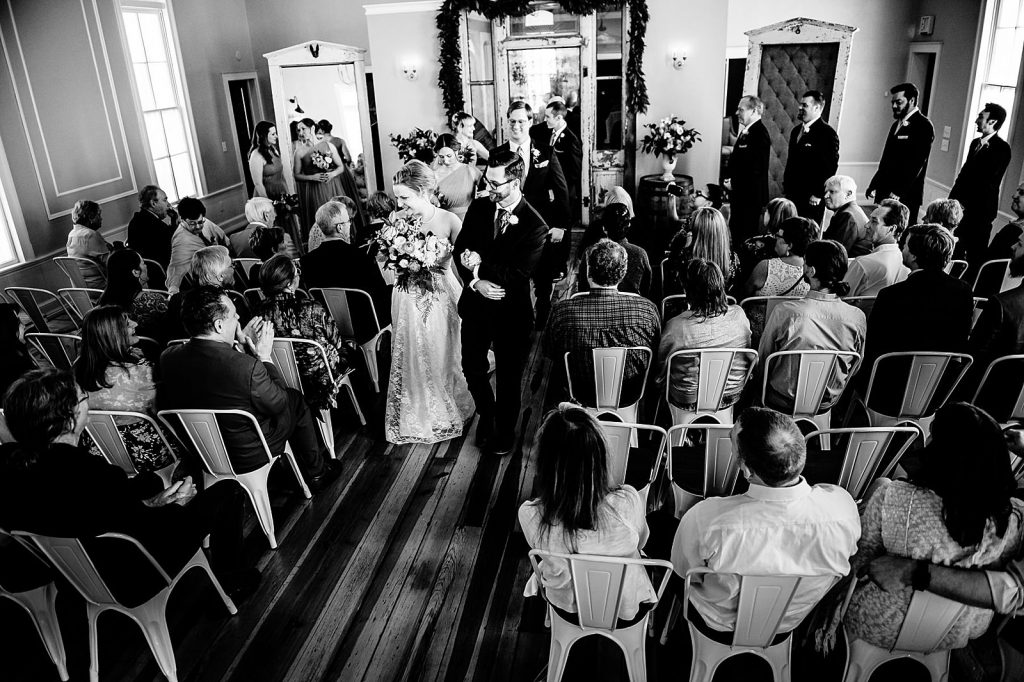 indoor wedding ceremony chapel hill