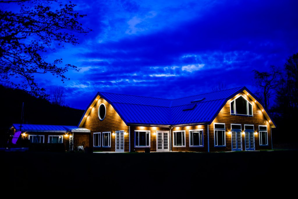 Full Moon Resort Wedding Venue at Night