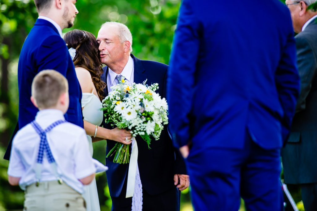 moment bride dad