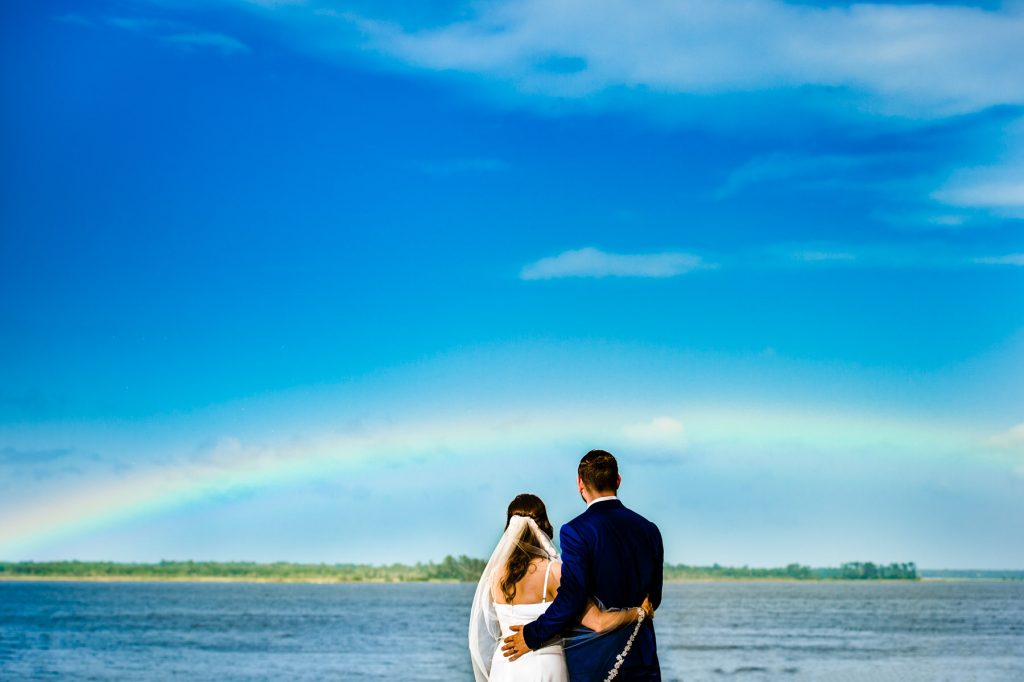 rainbow wedding picture natural