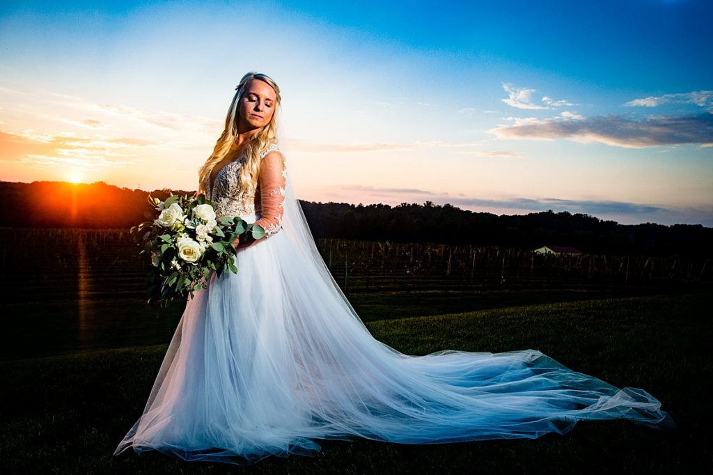 Childress Vineyards Bridal Portraits