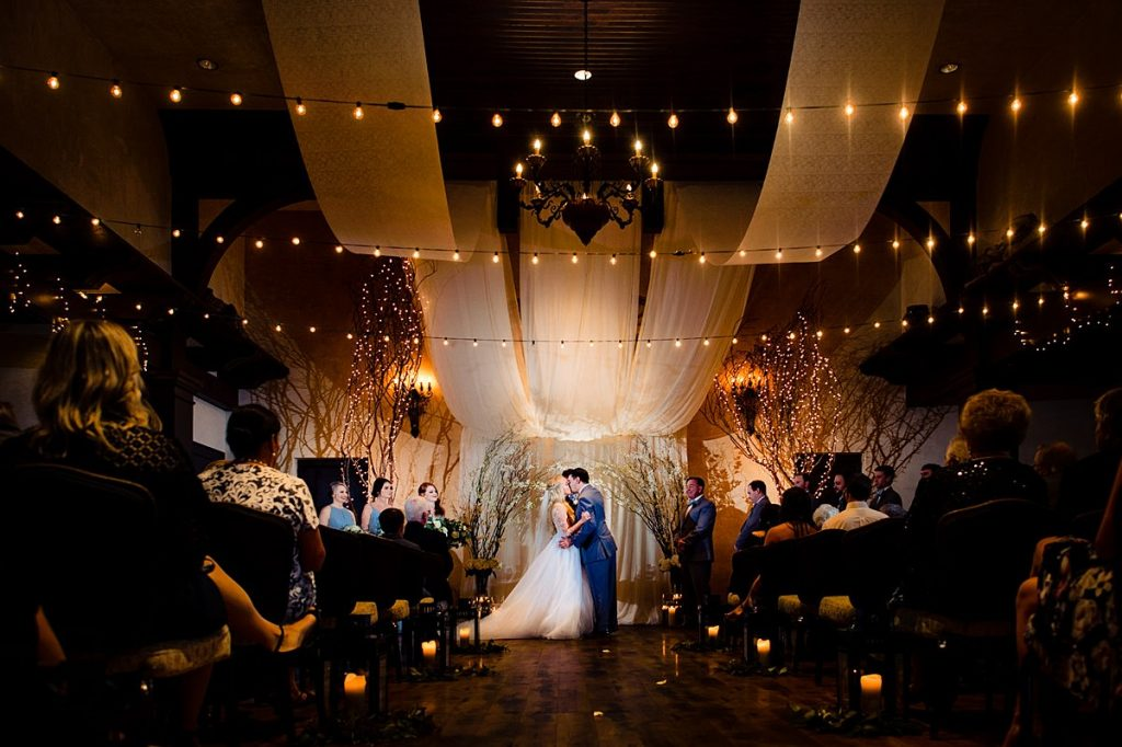 Childress Vineyards Indoor Ceremony