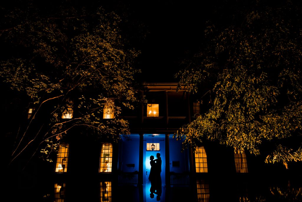 Haywood Hall and Gardens Wedding at Night