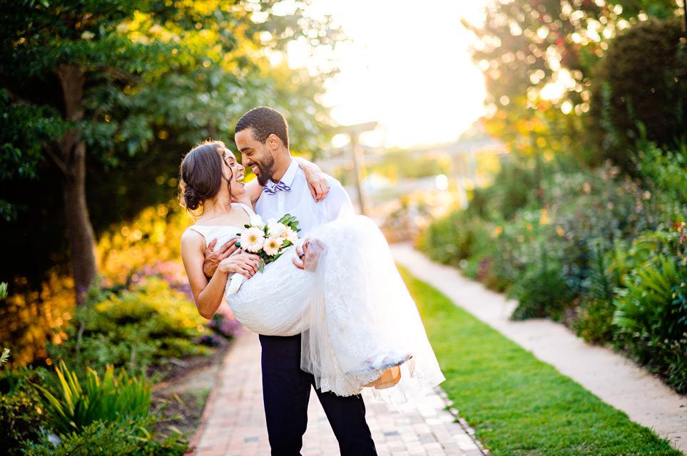 JC Raulston wedding photos at sunset