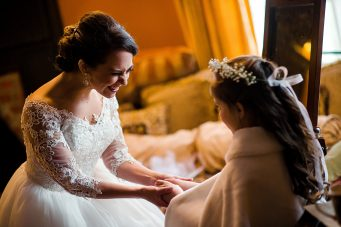 Bride-and-flowergirl