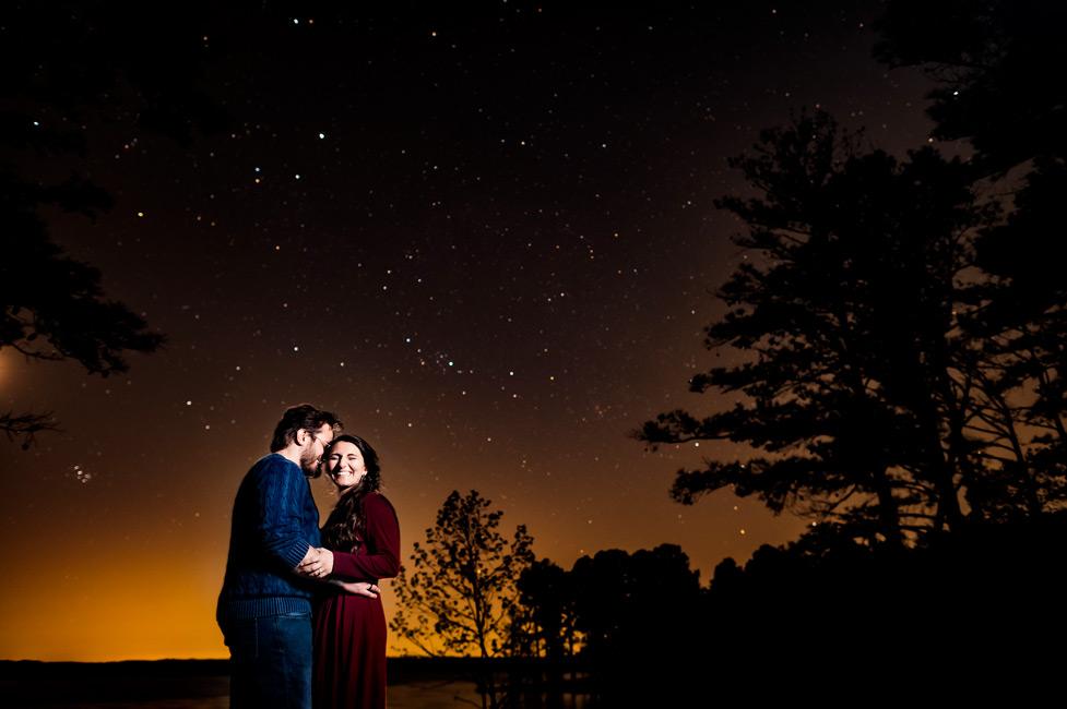 Jordan-Lake-Night-Engagement-Photos