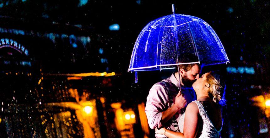 rainy wedding day at circle m city